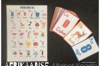 Afrikaanse Alfabet Kaarte(Alphabet Cards)