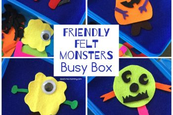 Friendly Felt Monsters Busy Box