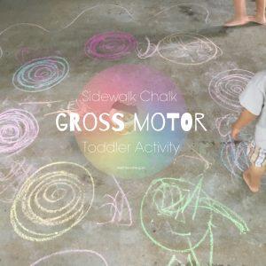 Chalk toddler activity