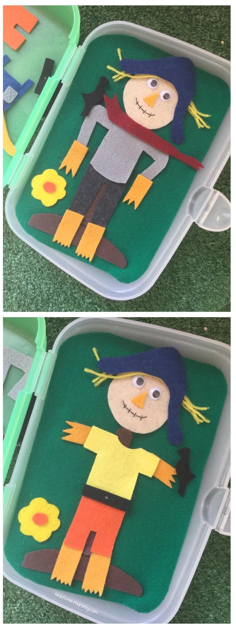 Dress a scarecrow