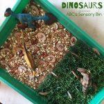 Dinosaurs ABC's Sensory Bin