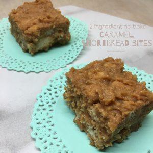 Caramel shortbread bites