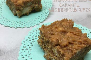 No-bake Shortbread Caramel Bites