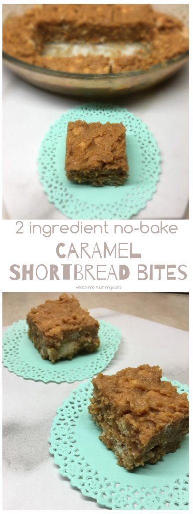 Shortbread caramel bites