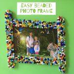 Easy Beaded Photo Frame
