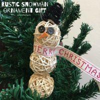 Snowman ornament gift
