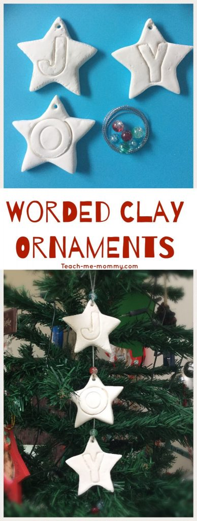 Worded Clay Ornaments