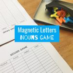 Magnetic Letters Nouns Game
