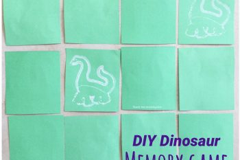 DIY Dinosaur Memory Game