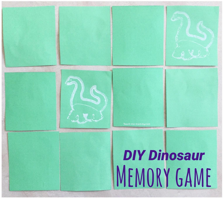 DIY Dinosaur Memory Game - Teach Me Mommy