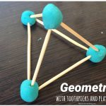 Geometry with playdough and toothpicks