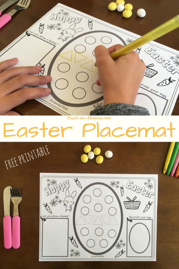Easter Placemat pin