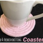 CD and French Knitting Coaster