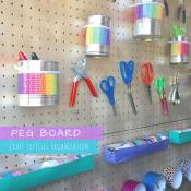 Peg Board organization