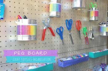 Craft Supplies Organization Peg Board