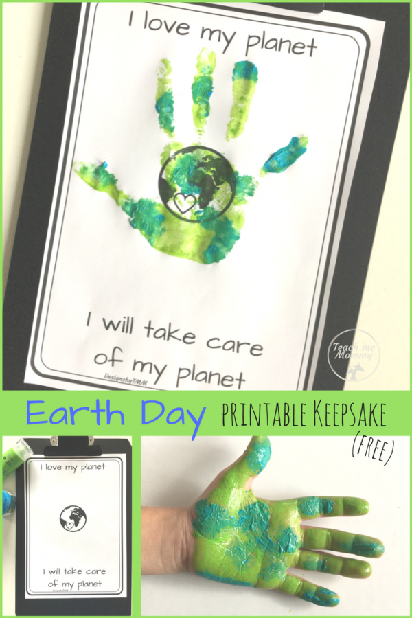Earth Day printable keepsake