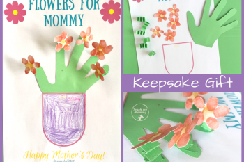 Flowers for Mommy Printable Keepsake