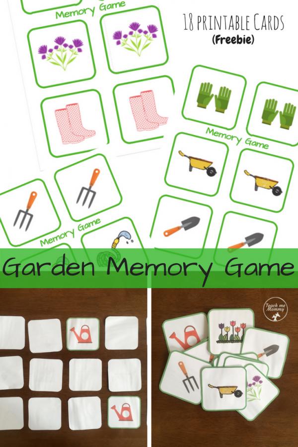 Garden Memory game