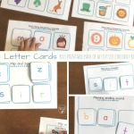 FREE Letter Cards plus Printables for Early Readers