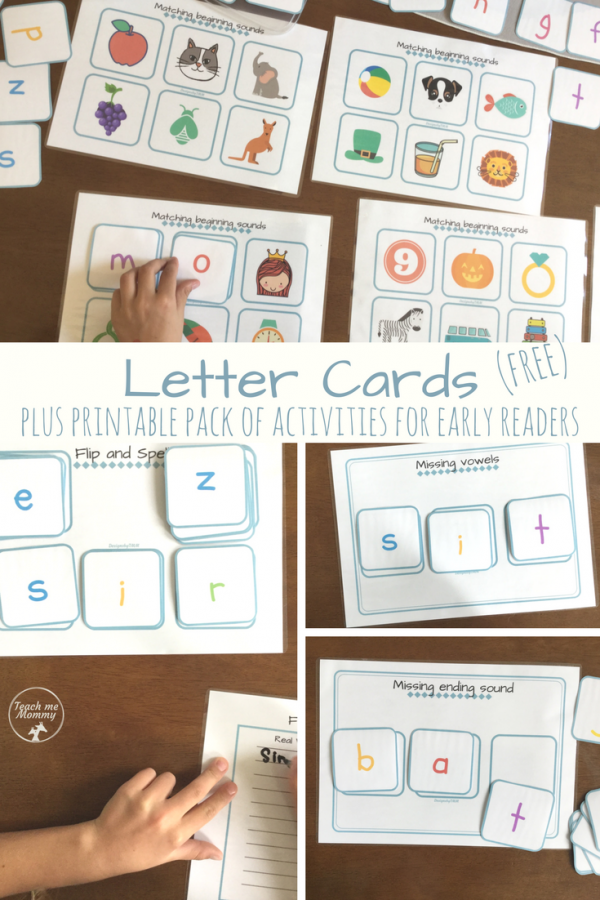Letter Cards printable pack