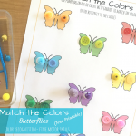 Match the Colors Butterflies