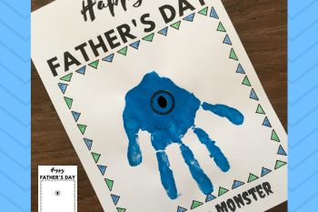 Father's Day Keepsake-Monster