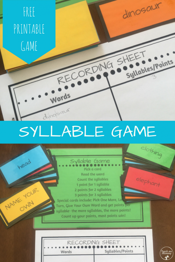 Syllable game