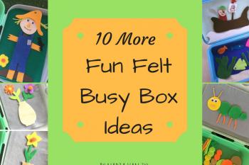 10 More Fun Felt Busy Boxes