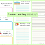 Summer Paper and Writing Prompts