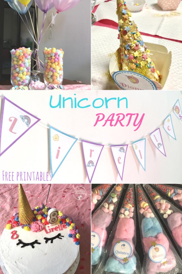 Unicorn party pin
