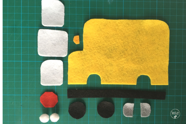 Bus puzzle parts