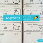 No-Prep Diagraph Worksheets