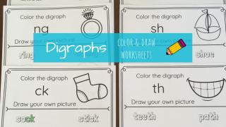 No-Prep Digraph Worksheets