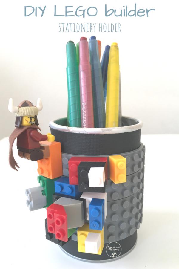 Lego stationery holder