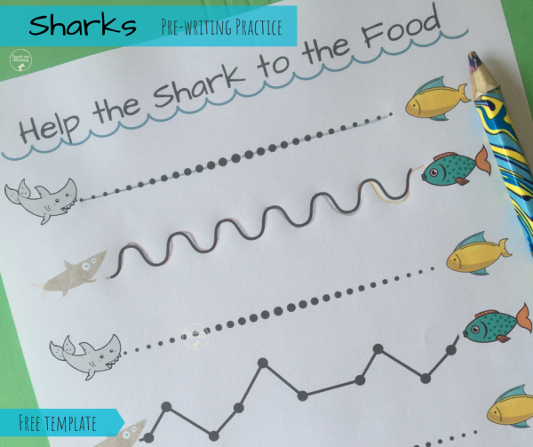 Sharks pre-writing practice