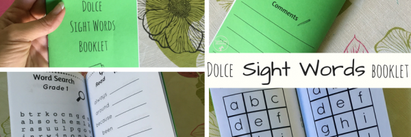 Sight Words booklet