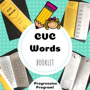 CVC words booklet TpT