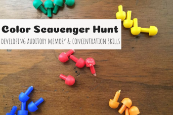 Color Scavenger Hunt- Auditory Skills