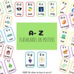 A- Z Alphabet Flashcards