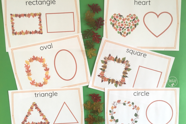 leaf shape cards
