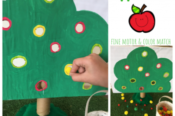 Fine Motor Apple Tree