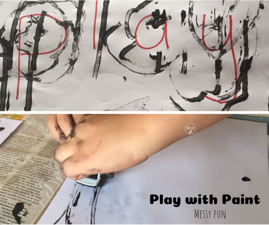 Play with Paint Messy Activity