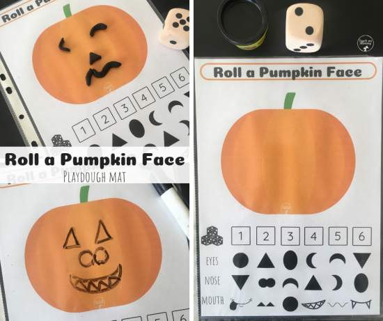 Roll a Pumpkin Face