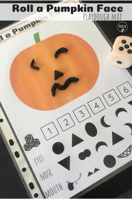 roll a pumpkin face