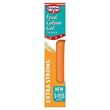 Dr Oetker Neon Orange Food Colour Gel - 10g (0.02lbs)