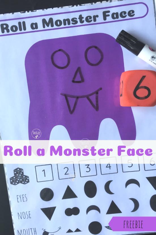 Monster face pin