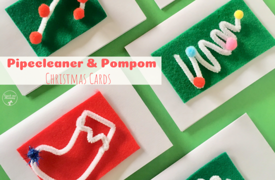 Pipecleaner & Pompom Christmas Cards