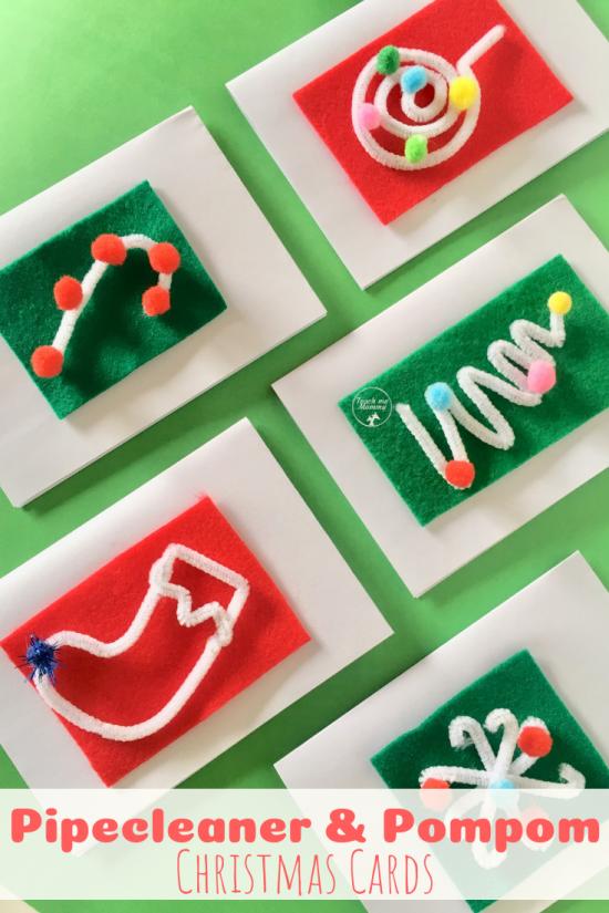 Christmas cards pin