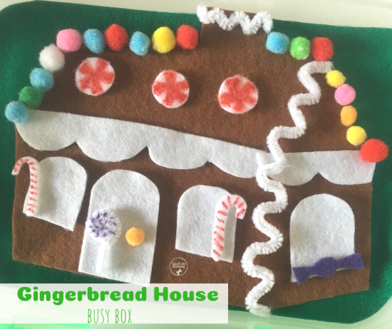Gingerbread House Busy Box