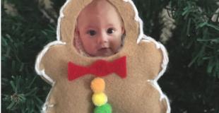 Gingerbread Man Photo Ornament